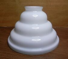 "4-3/8""x 2-1/8"" WHITE CASED SHADE 4-TIER LIKE SHAPED for PENDANT or LAMP 6-3/4""W"