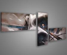 Quadri moderni astratti 180 x 70 stampe su tela canvas con telaio MIX-S_33