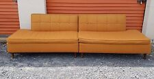 Vtg Mid Century Danish Modern Retro Couch Sofa Love Seat Orange Sectional Daybed