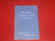VINTAGE PHONE BOOK TELEPHONE AND ADDRESS  NEW JERSEY BELL
