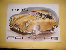 Original prospectus sale brochure porsche type 356 Fiche technique 1,1ltr 1,3 L