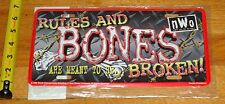 1999 WCW NWO Wrestling Rules and Bones Wrestling License Plate New MIP
