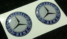 2 Adesivi Resinati Sticker 3D MERCEDES 50 mm