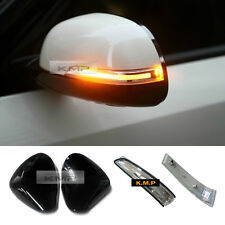 Genuine Side Mirror Cover Painted + LED Repeater Light For KIA 2014-2017 Soul