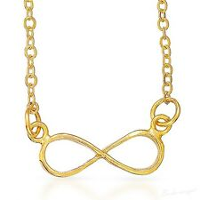 Gold Filled 14k Necklace Infinity Pendant Designer Charm & Chain Lady Warranty