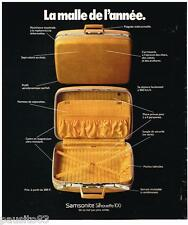 PUBLICITE ADVERTISING 095  1973  SAMSONITE   la maille  SILHOUETTE 100