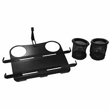 K-002B Laptop Mount Stand Tray With Mesh Cup Holders & Adjustable Tray Brackets