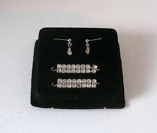 Franklin Mint MARILYN MONROE FAUX DIAMOND EARRINGS & BRACELETS Jewelry Set