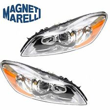 Volvo C30 Hatchback Pair Set of Left and Right Halogen Headlights Assies Marelli