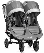 Baby Jogger City Mini GT Double Twin All Terrain Stroller Steel Gray NEW 2016