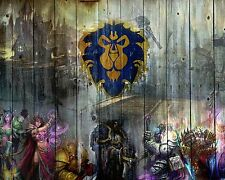 World of Warcraft Wow Alliance  A4 260gsm Poster Print
