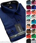 Men's Cotton Plain Everyday Value Shirt Classic Collar Formal Casual Long Sleeve