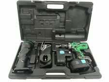 "Hitachi DS18DVF3 18V 1/2"" Driver Drill Kit with Flashlight Tested And Guaranteed"