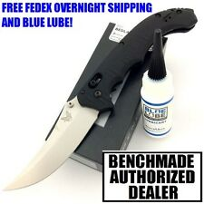 BENCHMADE BEDLAM 860 BLACK G10 HANDLE 154CM STEEL SATIN PLAIN EDGE KNIFE NIB