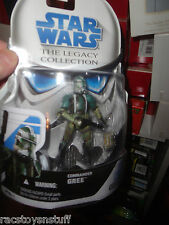 STAR WARS LEGACY COLLECTION SERIES COMMANDER GREE, NEVER OPENED