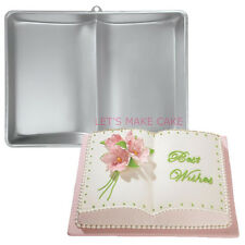 OPEN BOOK SHAPED CAKE TIN PAN MOULD CHRISTENING GRADUATION CAKE DECORATING
