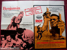 Cinema Poster: BENJAMIN/RIOT 1969 (Double Bill Quad) Jim Brown Gene Hackman