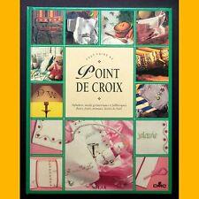 Alphabets fleurs décors Noël TOUT FAIRE AU POINT DE CROIX F. Crestin-Billet 1995