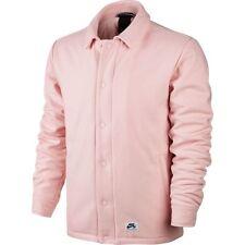 Nike SB Quartersnacks Coaches Jacket Coat Pink White Sz X-Large 857070-612