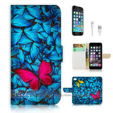iPhone 6 6S (4.7') Flip Wallet Case Cover! P1823 Butterfly