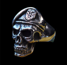 Stainless Special Forces Skull Ring Custom Sized Military US Army Rebels R-157ss