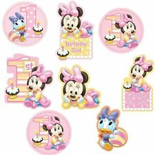 Disney Baby MINNIE Mouse CUTOUTS 1st Birthday Party Supplies Decorations Props