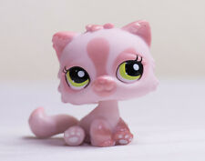 Littlest Pet Shop LPS Pink Shimmer Persian Cat Green Eyes #1083 Rare