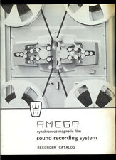Very Rare Amega Reel To Reel Tape Deck Picture Sound Recorder Dealer Catalog