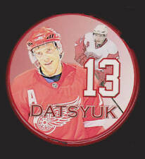 Detroit Red Wings Pavel Datsyuk #13 NHL RED Hockey Puck Czech Republic