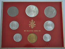 1968 Vatican City Paul VI (VI Year) Coin Set - Unc
