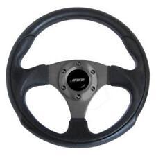 300mm M gama Cuero Negro Deportivo Racing Volante Negro Con Centro