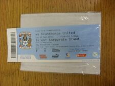 27/02/2010 BIGLIETTO: COVENTRY CITY V Scunthorpe United (SKY Creations Lounge ONU).