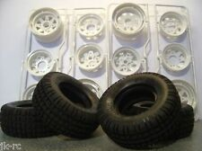 New Tamiya Brat/Ranger Front + Rear Wheels + Tyres Parts Only 9005099 / 9400554