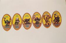 OOP Advanced Heroquest Full set of 6 Yellow Monster Character Chits Hero Quest