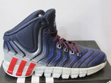 UK SIZE 11.5 - ADIDAS ADIPURE CRAZYQUICK 2  MENS BASKETBALL TRAINERS BLUE / GREY