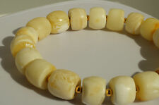 ANTIQUE BALTIC SEA AMBER ,BRACELET 16 GRAMS,ROYAL WHITE COLOR