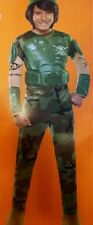 NEW $30 Child Med 6-8 Combat Marine Halloween Costume Dress Up Outfit