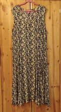 NWOT BLACK, OLIVE GREENB & WHITE MAXI DRESS FROM WOMAN WITHIN SIZE 2X