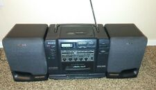 SONY CFD-535 BOOMBOX PORTABLE STEREO CD CASSETTE AM/FM WORKS GREAT