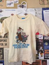 WDW Disney's The Great Mouse Detective Vtg Shirt Kids L
