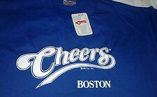 NWT NEW Vtg 1991 CHEERS Boston Bar Pub T-shirt Royal Blue XL Sof tee