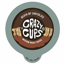 Crazy Cups Death By Chocolate Flavored Coffee Single Serve cups for Keurig K-cup