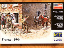 Masterbox 1:35 Francia 1944 Cavallo e Carro con figure WW2 EPOCA MODELLO KIT