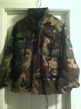 USGI M-65 Field Jacket XSMALL LONG Woodland Camo BDU Cold Weather Army Coat