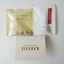 Lot of 3 BURBERRY Samples WEEKEND, BODY SPORT 1.2~2 ml Perfume Spray
