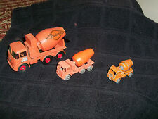 Matchbox 3 Cement Trucks K-13, No 62 Foden No 26 Lorry Truck Last 2 Grey Wheels