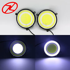 2PCS Car accessories LED Daylight 90 mm round waterproof DRL White turn signal