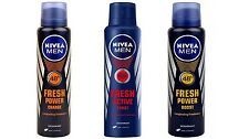 Nivea Fresh Power Charge,Active Burst,Power Boost(set of 3)combo Deo for Men