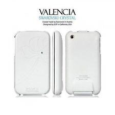 Sgp Valencia Swarovski cover custodia vera pelle per iPhone 3G 3GS Bianco