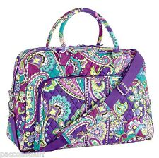 "VERA BRADLEY WEEKENDER CARRY-ON DUFFLE TRAVEL BAG OVERNIGHT TOTE ""HEATHER"" NWT"